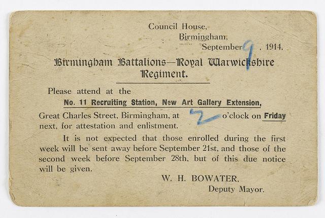 Er vi ved at glemme arven fra 1914? (Foto: Flickr Creative Commons / Birmingham Museum and Art Gallery)