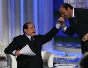 Silvio Berlusconi i RAI-programmet Porta a Porta (Dør til dør). Foto: