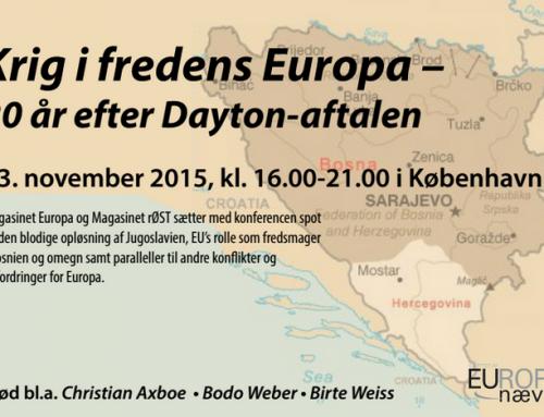 Konference: Krig i fredens Europa – 20 år efter Dayton-aftalen