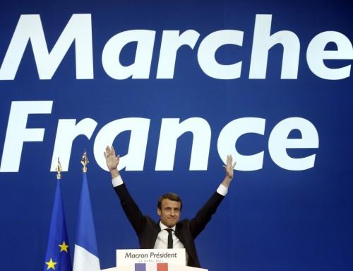 """Macron passerer på sin socialliberale """"tredje vej"""" et fransk socialistparti i grøften"""